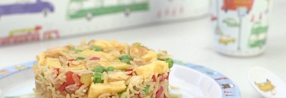 Cómo hacer fritada de arroz con verduras