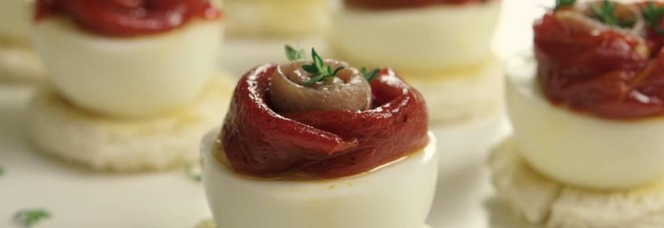 Cómo hacer tosta de anchoa con pimiento