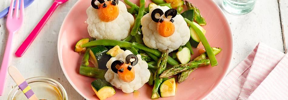 Receta de coliflor hervida con verduras