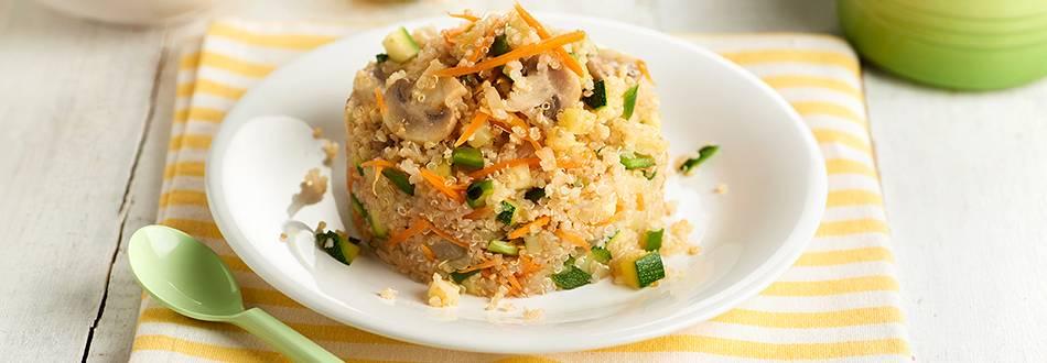 Receta de quinoa fría con verduras para niños