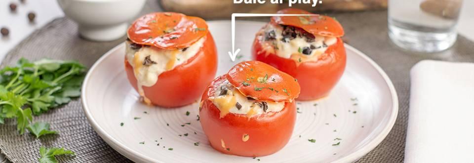 Cómo hacer tomates rellenos de bacalao