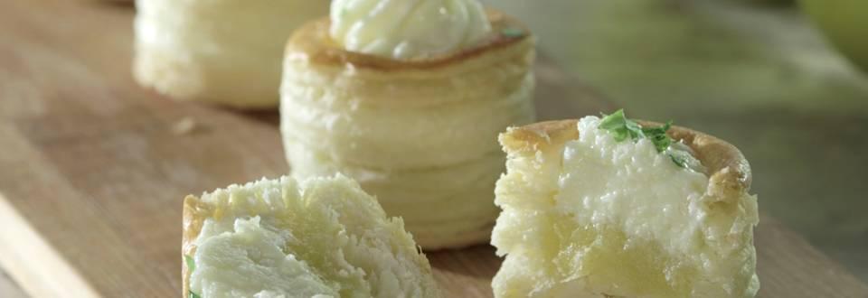 Cómo hacer volovanes de queso de cabra