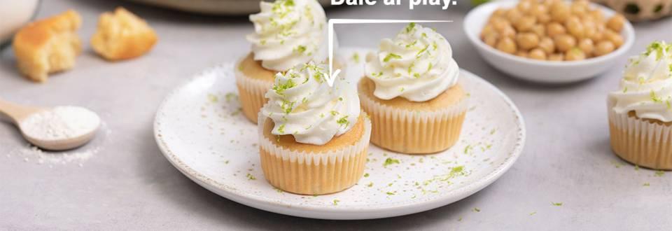 Cómo hacer cupcakes de lima con merengue vegano