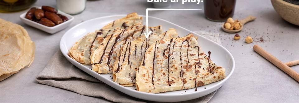 Cómo hacer crêpes con crema de cacao