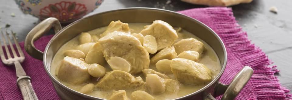 Cómo hacer pollo korma con pan chapati