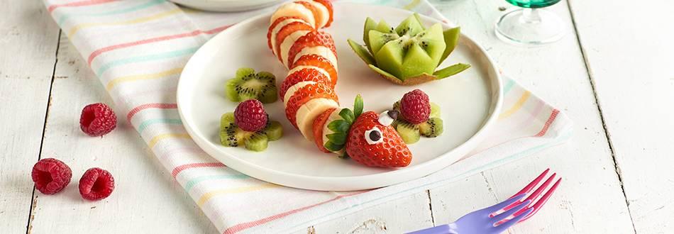 Receta de serpiente de frutas