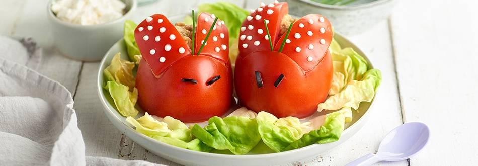 Receta de tomates rellenos de caballa y aguacate