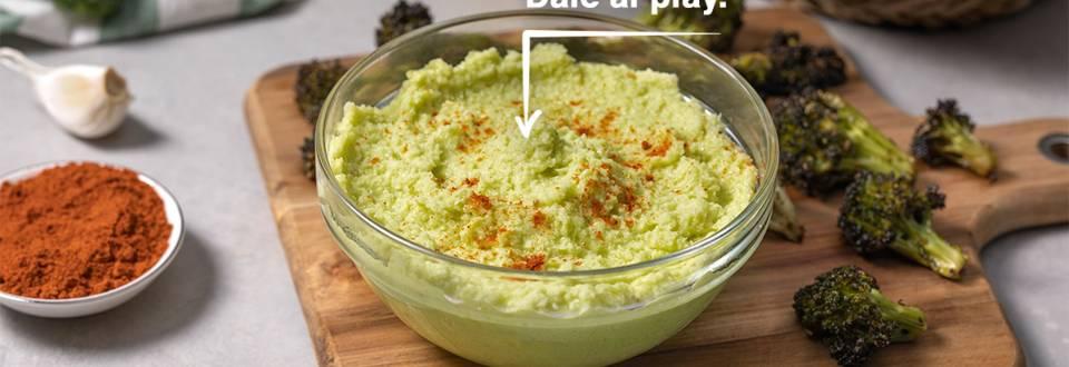 Cómo hacer hummus de tronco de brócoli