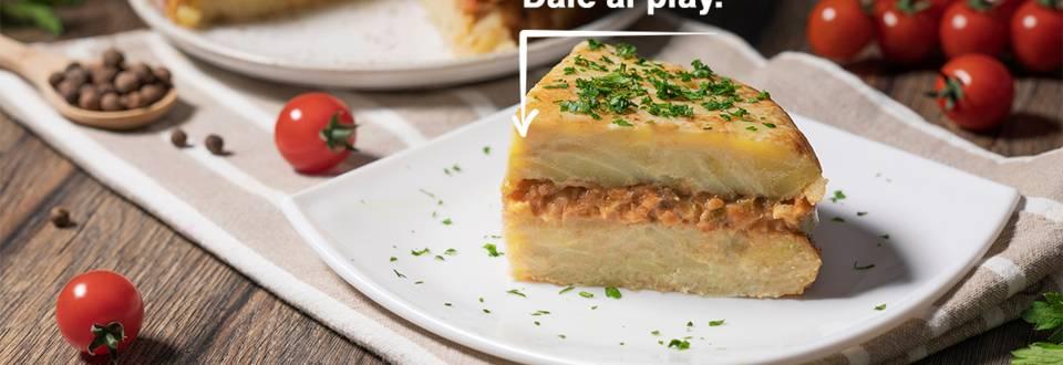 Cómo hacer tortilla de garbanzos con bechamel vegana