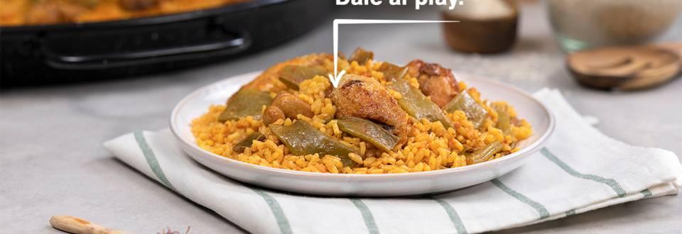 Cómo hacer paella de pollo