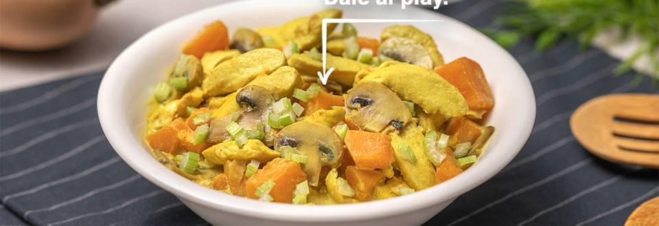 Cómo hacer curry de pollo y calabaza