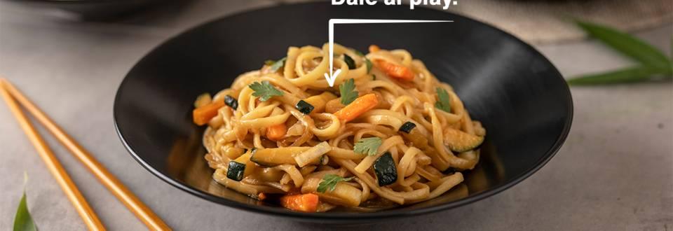 Cómo hacer tallarines chinos con verduras