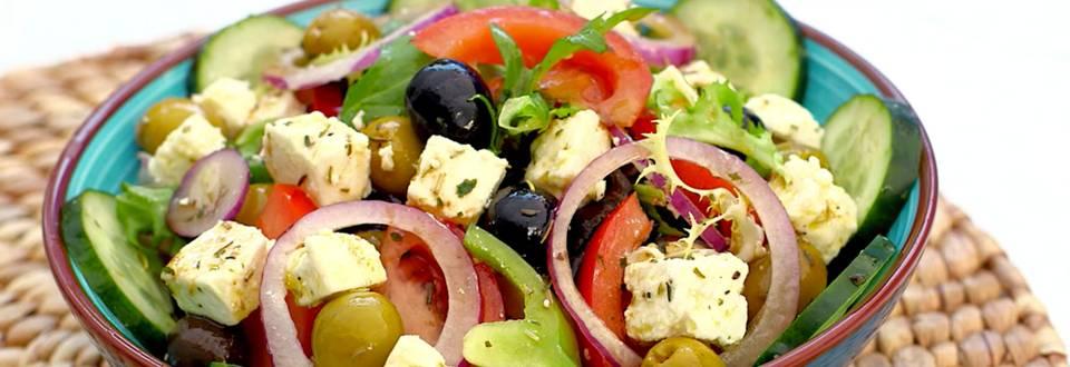 Cómo hacer ensalada griega