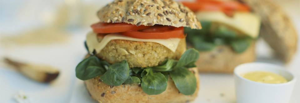 Cómo hacer hamburguesas de quinoa