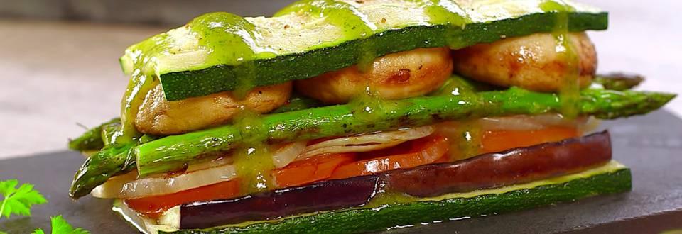 Cómo hacer una lasaña de verduras a la plancha