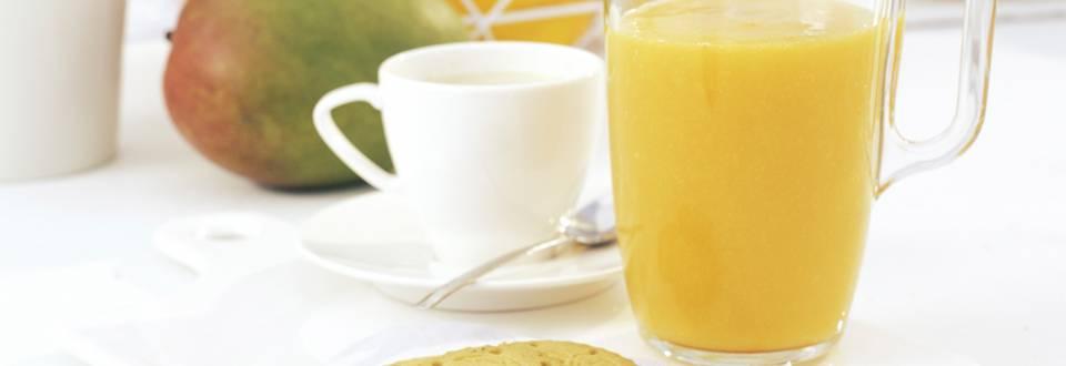 Cómo hacer batido vitamina C, capuccino y galletas