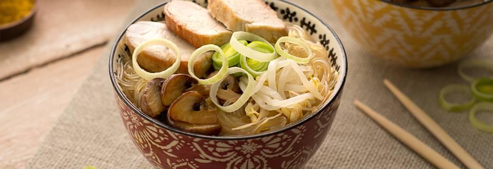 Cómo hacer ramen de solomillo y verduras