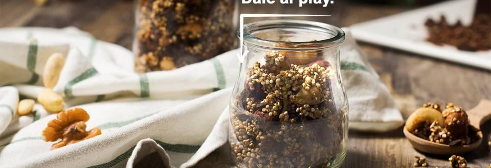 Cómo hacer desayuno con quinoa, chía y frutos secos