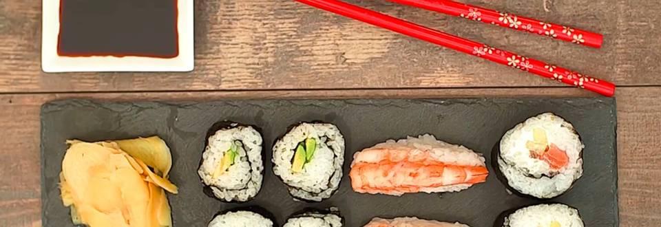 Cómo hacer variado de sushi