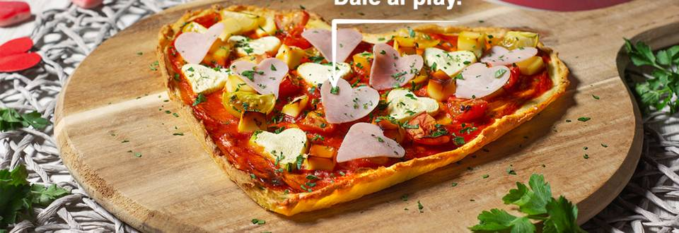 Cómo hacer una pizza corazón