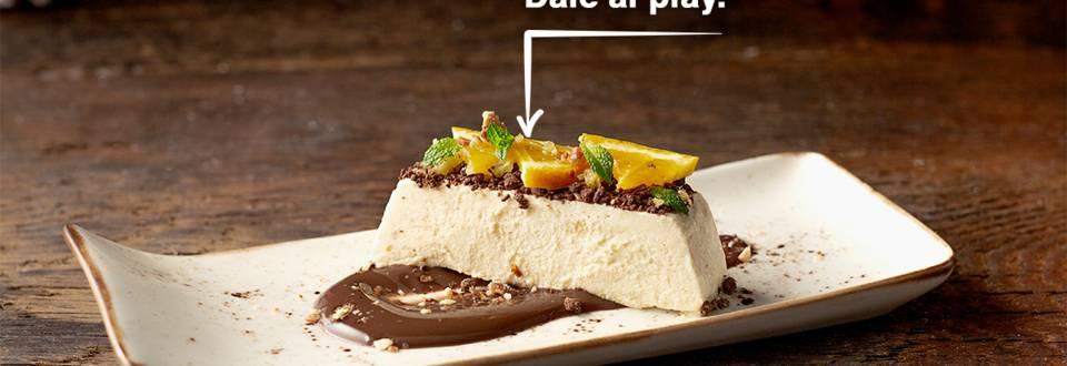 Cómo hacer tarta de turrón con cobertura cítrica