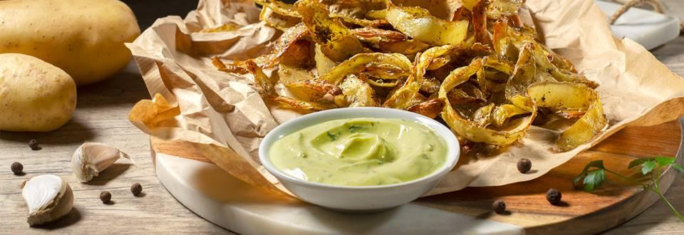 Cómo hacer chips de piel de patata