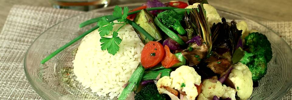 Cómo hacer verduras con arroz