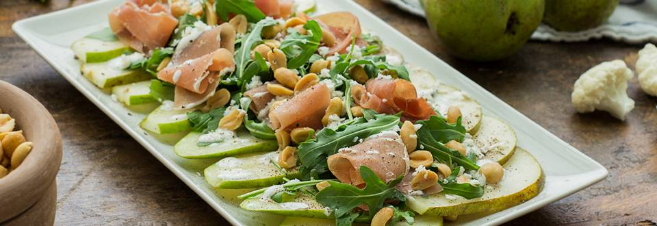 Cómo hacer ensalada de pera y rúcula
