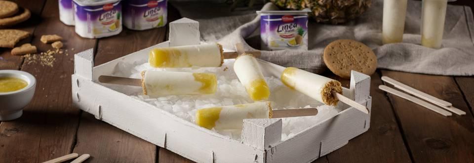 Cómo hacer helados de yogur desnatado con piña