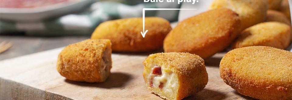 Cómo hacer croquetas de jamón y queso sin lactosa