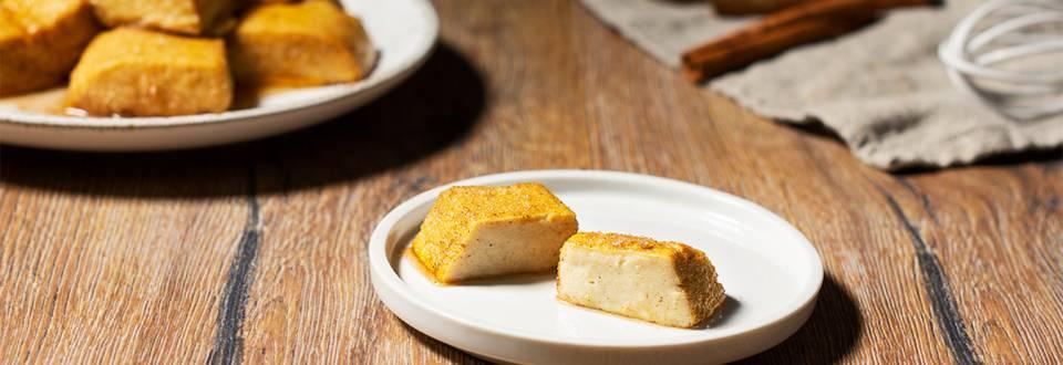 Cómo hacer leche frita al horno sin lactosa