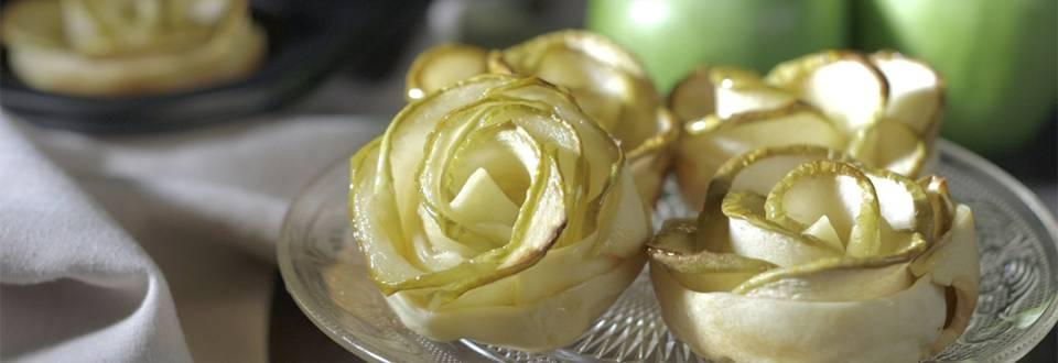 Cómo hacer flores de masa quebrada y manzana
