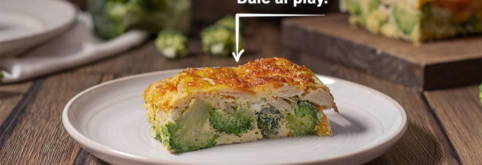 Cómo hacer pastel de brócoli y pavo