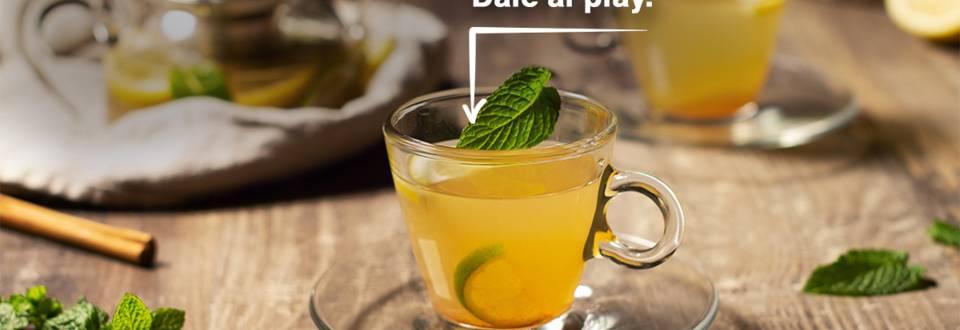 Cómo hacer infusión de lima, limón y hierbabuena