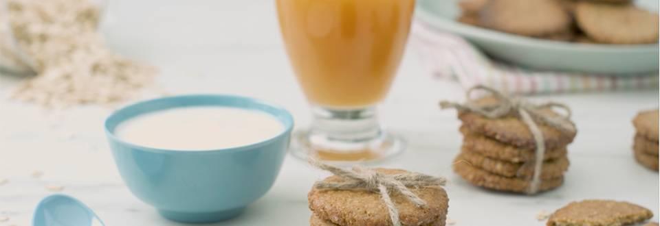 Cómo hacer galletas de avena, zumo y yogur