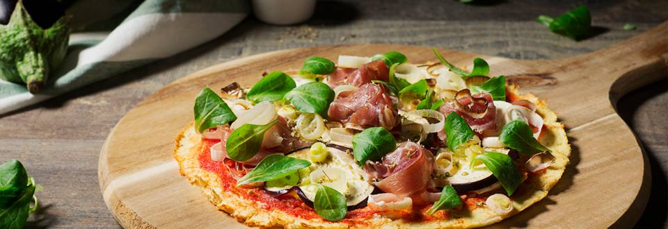 Cómo hacer pizza de coliflor sin lactosa