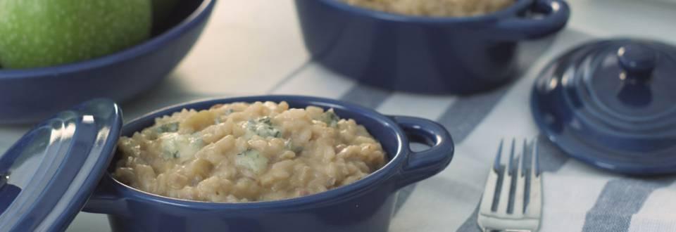 Cómo hacer risotto de manzana y gorgonzola