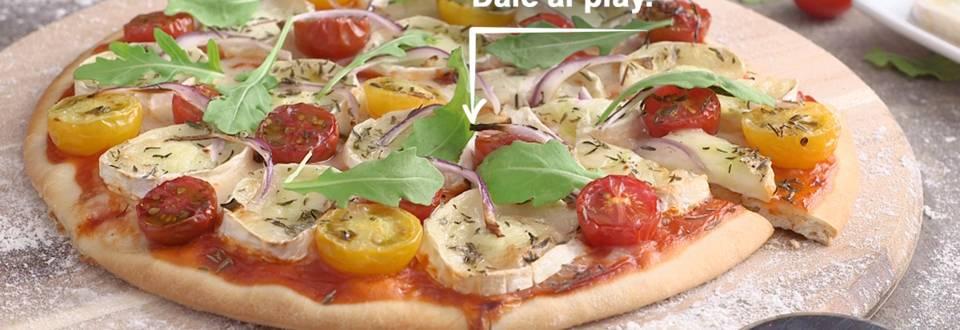 Cómo hacer pizza de queso de cabra