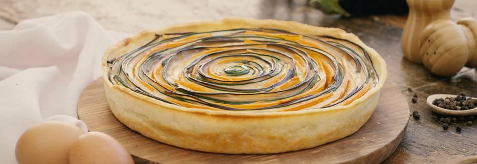 Cómo hacer una quiche multicolor de verduras