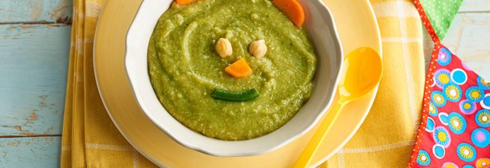 Cómo hacer puré de garbanzos con arroz y verduras