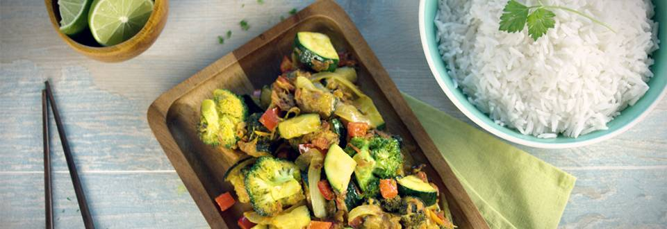 Cómo hacer arroz thai con verduras