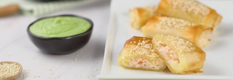 Cómo hacer rollitos de surimi