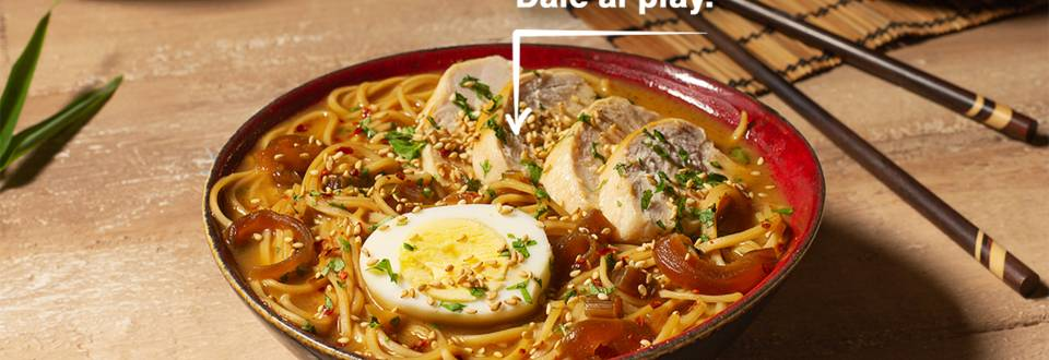 Cómo hacer una sopa ramen de pollo