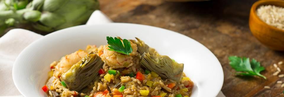 Cómo hacer arroz integral con alcachofas