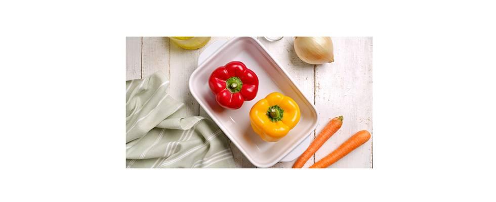 pimiento rojo, pimiento amarillo, zanahoria, cebolla