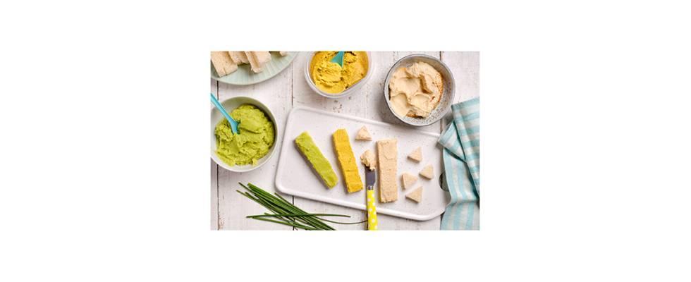 Pan con patés vegetales